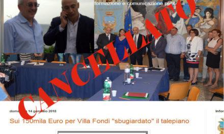 Piano di Sorrento – Finanziamento Villa Fondi/ A modo loro ci hanno chiesto scusa: scuse accettate