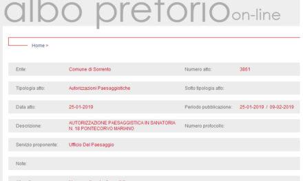 Sorrento/ Il Comune rilascia l'autorizzazione in sanatoria, ma all'albo manca l'allegato