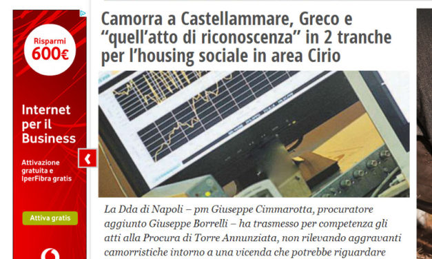 """""""Greco e """"quell'atto di riconoscenza"""" in 2 tranche per l'housing sociale in area Cirio"""": il nuovo approfondimento del Fatto Quotidiano"""