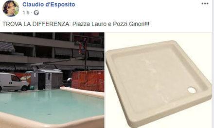 Sorrento/ La fontana di Piazza Lauro, come un piatto doccia di Ginori: la foto-provocazione di Claudio d'Esposito