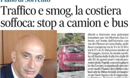 """Piano di Sorrento/ """"Dal 1° luglio stop al transito di autobus e camion"""": era una bufala l'annuncio del Sindaco Vincenzo Iaccarino"""