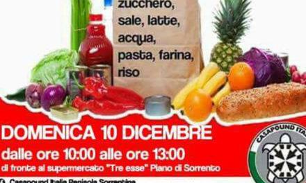 Piano di Sorrento/ Per domenica mattina Casapound lancia la raccolta alimentare