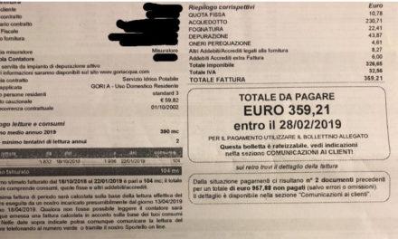 Penisola sorrentina/ Bollette pazze: 360 euro di acqua ad ultranovantenne che vive sola con il figlio