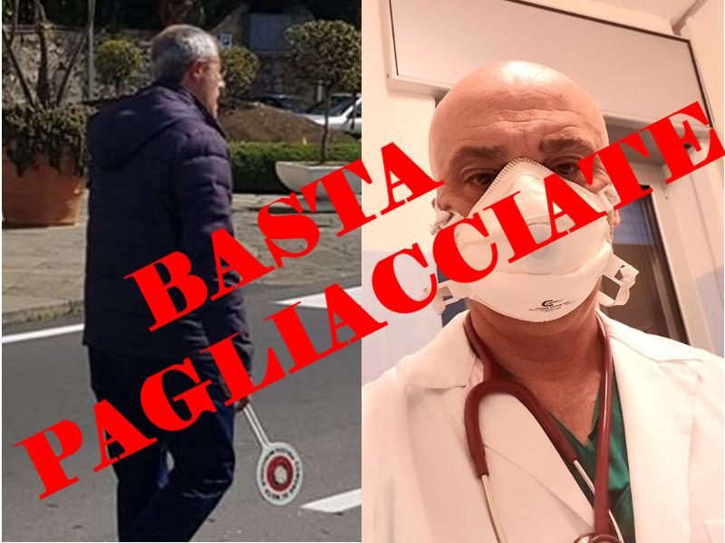 Emergenza Coronavirus/ Tito si fa fotografare ad un posto di blocco senza precauzioni, Iaccarino fa i selfie dall'ospedale in mascherina: ma questa è una cosa seria, non è campagna elettorale