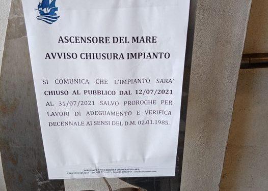 Piano di Sorrento/ Marina di Cassano: arriva la mazzata, chiusa l'ascensore fino al 31 luglio